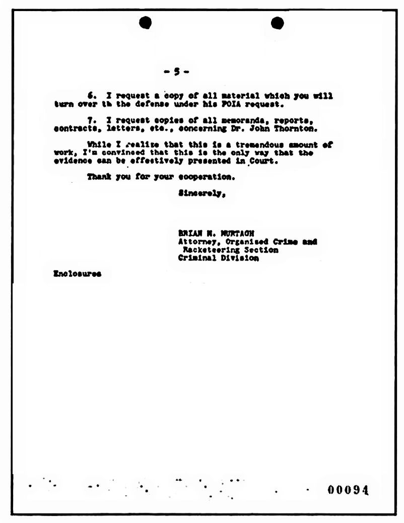 The Jeffrey MacDonald Information Site: March 1, 1979: Letter from Brian Murtagh to Captain Ronald Phillips re: Pre-trial preparation, p. 5