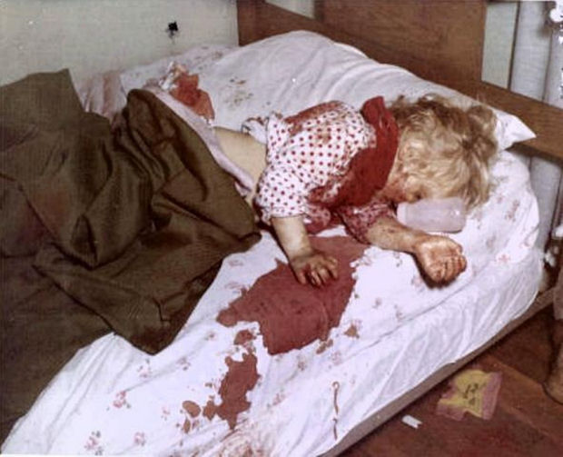 Kristen as found in her bed by MPs and CID investigators February 17, 1970
